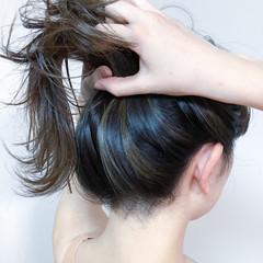 ナチュラル うぶ毛ハイライト セミロング ハイライト ヘアスタイルや髪型の写真・画像