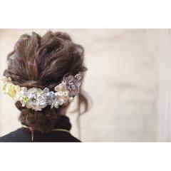 結婚式 外国人風 パーティ ミディアム ヘアスタイルや髪型の写真・画像
