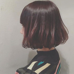 キュート ボブ ワンカール ナチュラル ヘアスタイルや髪型の写真・画像