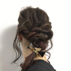 ヘアアレンジ 大人女子 外国人風 セミロング ヘアスタイルや髪型の写真・画像