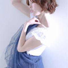 フェミニン ボブ 外国人風 大人かわいい ヘアスタイルや髪型の写真・画像