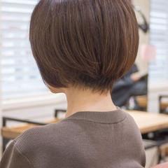 大人かわいい ショートヘア ショート ショートボブ ヘアスタイルや髪型の写真・画像