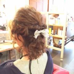 ヘアアレンジ 編み込み ゆるふわ 夏 ヘアスタイルや髪型の写真・画像