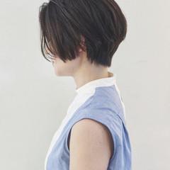 大人かわいい 簡単ヘアアレンジ 前下がり ショート ヘアスタイルや髪型の写真・画像
