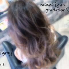 ナチュラル ミディアム グラデーションカラー モテ髪 ヘアスタイルや髪型の写真・画像