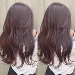 ヘアアレンジ ラベンダーピンク ラベンダーグレージュ 簡単ヘアアレンジ ヘアスタイルや髪型の写真・画像