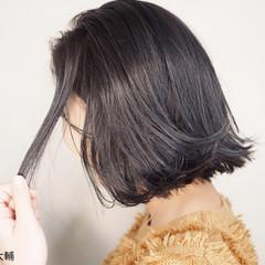 外国人風カラー グレージュ ナチュラル ボブ ヘアスタイルや髪型の写真・画像