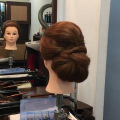アップスタイル ヘアアレンジ セミロング 和装 ヘアスタイルや髪型の写真・画像