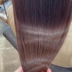 髪質改善カラー 艶髪 ナチュラル 髪質改善 ヘアスタイルや髪型の写真・画像