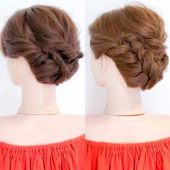 ロング 上品 アウトドア 結婚式 ヘアスタイルや髪型の写真・画像