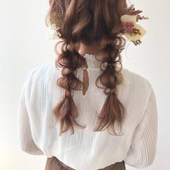 ロング ヘアアレンジ 大人可愛い ナチュラル ヘアスタイルや髪型の写真・画像