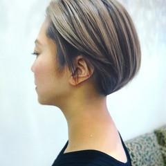 ショートボブ ショートヘア ナチュラル ミニボブ ヘアスタイルや髪型の写真・画像