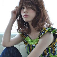 アッシュ ストリート ミディアム 外国人風 ヘアスタイルや髪型の写真・画像