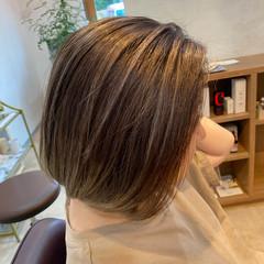3Dハイライト 透明感カラー ナチュラル 大人ハイライト ヘアスタイルや髪型の写真・画像