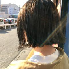 透明感 外国人風 ボブ ストリート ヘアスタイルや髪型の写真・画像