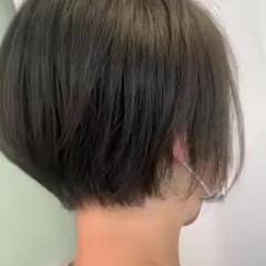 ショートヘア アイロンなしスタイリング 私とマスクとヘアアレンジ ナチュラル ヘアスタイルや髪型の写真・画像