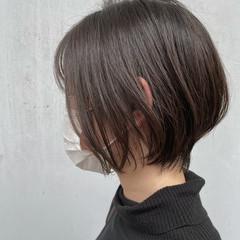 小顔ショート 大人ショート ナチュラル ショートボブ ヘアスタイルや髪型の写真・画像