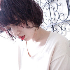 色気 ボブ パーマ 外国人風 ヘアスタイルや髪型の写真・画像