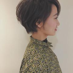 似合わせ ショートボブ ガーリー ショート ヘアスタイルや髪型の写真・画像