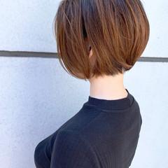 ショートボブ 前下がりボブ 丸みショート ショートヘア ヘアスタイルや髪型の写真・画像