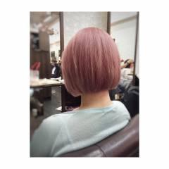 パープル レッド ベージュ ピンク ヘアスタイルや髪型の写真・画像
