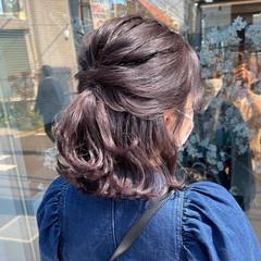 グレージュ 切りっぱなしボブ ミニボブ ボブ ヘアスタイルや髪型の写真・画像