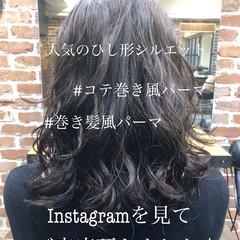 パーマ フェミニン ゆるふわパーマ 前髪パーマ ヘアスタイルや髪型の写真・画像