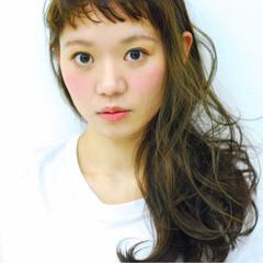 ハイライト 外国人風カラー 透明感 シースルーバング ヘアスタイルや髪型の写真・画像