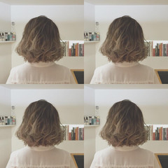 グラデーションカラー ブリーチ アッシュ ガーリー ヘアスタイルや髪型の写真・画像