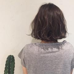 ボブ アッシュブラウン デート 女子会 ヘアスタイルや髪型の写真・画像