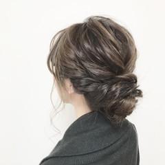 ヘアアレンジ アウトドア セミロング 結婚式 ヘアスタイルや髪型の写真・画像