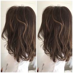 ロング ハイライト エレガント 大人女子 ヘアスタイルや髪型の写真・画像