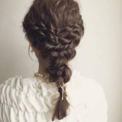 愛され ヘアアレンジ コンサバ モテ髪 ヘアスタイルや髪型の写真・画像