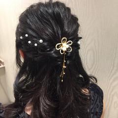 結婚式 ガーリー パーティ ヘアアレンジ ヘアスタイルや髪型の写真・画像