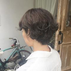パーマ 簡単 ゆるふわ ショートボブ ヘアスタイルや髪型の写真・画像