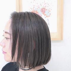 アッシュ 大人かわいい 外国人風 ボブ ヘアスタイルや髪型の写真・画像