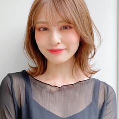 ミディアムレイヤー デジタルパーマ ナチュラル モテ髪 ヘアスタイルや髪型の写真・画像