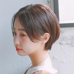 ナチュラル ひし形シルエット ショート 小顔ショート ヘアスタイルや髪型の写真・画像