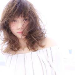 透明感 おフェロ マット ナチュラル ヘアスタイルや髪型の写真・画像