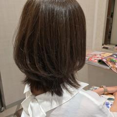 美髪 大人カジュアル ミディアム トリートメント ヘアスタイルや髪型の写真・画像