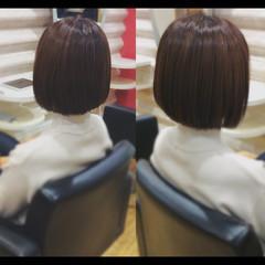 ナチュラル 髪質改善 ボブ 艶髪 ヘアスタイルや髪型の写真・画像
