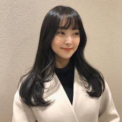 ロング フェミニン レイヤースタイル 韓国ヘア ヘアスタイルや髪型の写真・画像
