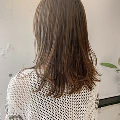 ミディアム 透明感カラー 韓国ヘア ナチュラル ヘアスタイルや髪型の写真・画像