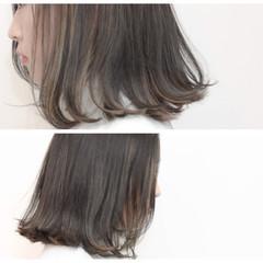 アッシュ ニュアンス インナーカラー 色気 ヘアスタイルや髪型の写真・画像