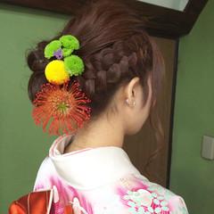 着物 ヘアアレンジ ロング 結婚式 ヘアスタイルや髪型の写真・画像
