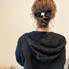 セミロング ヘアセット 結婚式 アップスタイル ヘアスタイルや髪型の写真・画像