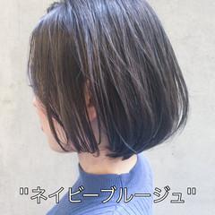 切りっぱなしボブ ミニボブ 外国人風カラー イルミナカラー ヘアスタイルや髪型の写真・画像