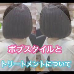 髪質改善トリートメント ミニボブ ショートボブ 髪質改善カラー ヘアスタイルや髪型の写真・画像