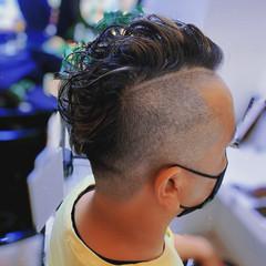 メンズカット ショート 大人ハイライト コントラストハイライト ヘアスタイルや髪型の写真・画像