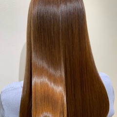 ロング ナチュラル 髪質改善 ブラウンベージュ ヘアスタイルや髪型の写真・画像